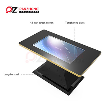 Table touch screen kiosk