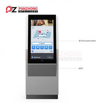 Standing touch screen kiosk